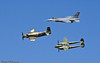 "A-1H, F-16 and P-38F ""Glacier Girl"" - Reno Air Races 2007, NV, USA"