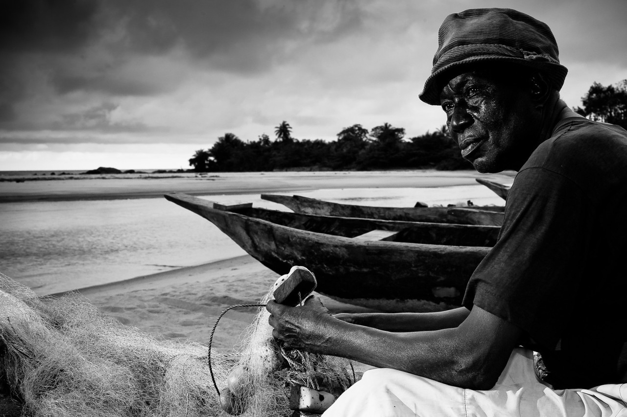 Camerun. Kribi. 2012. The fisherman.