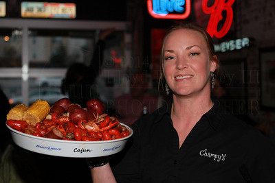 Hot Boiled Crawfish at Champys Famous Fried Chicken. Photography by Lloyd R. Kenney III (C) 2013 All Rights Reserved