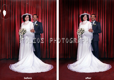 Heavy Photo Restoration. repaired at the photography place by tolios in astoria, nyc