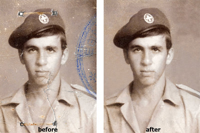 Moderate Photo Restoration. repaired at the photography place by tolios in astoria, nyc