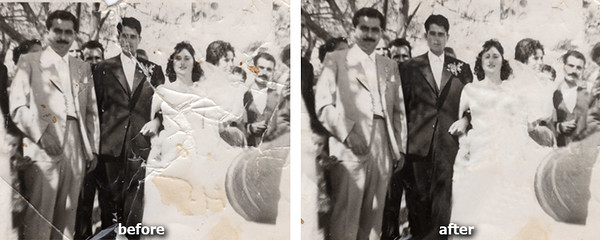 Severe Photo Restoration. repaired at the photography place by tolios in astoria, nyc