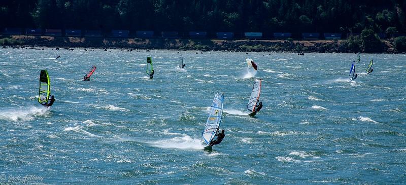 Surf Sailing on the Columbia River, Washington