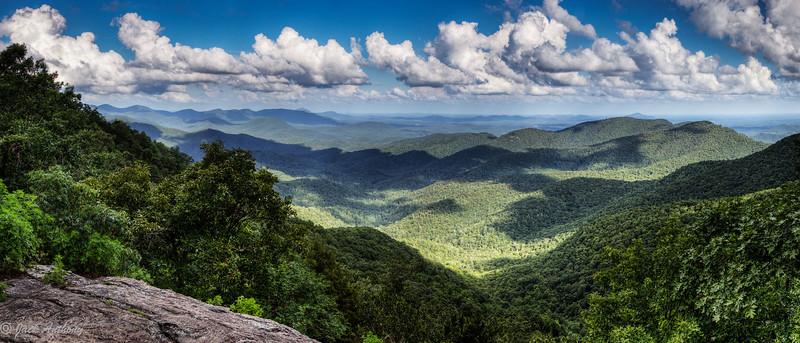 View from Preaching Rock, Lumpkin Co., Ga.