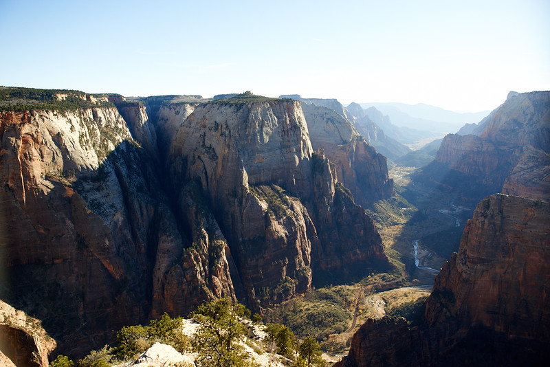 Observation Point - View of Zion Canyon and Angels Landing