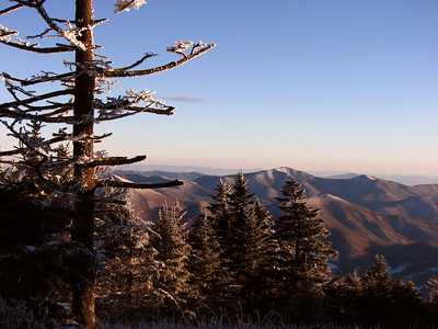 Winter view from Roan Mt