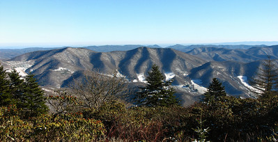 Looking over Mitchell County from Roan Mt