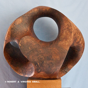 LOTUS POD - VIEW #2 21h X 22w  X 19d  black walnut NOT FOR SALE