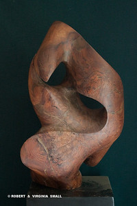 FIGHT NO MORE FOREVER  View #2 32H X 21W X 13D  black walnut