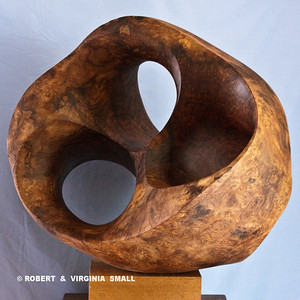 LOTUS POD   View #3 21h X 22w X 19d  black walnut NOT FOR SALE