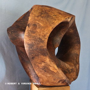 LOTUS POD  View #4 21h X 22w X 19d  black walnut NOT FOR SALE