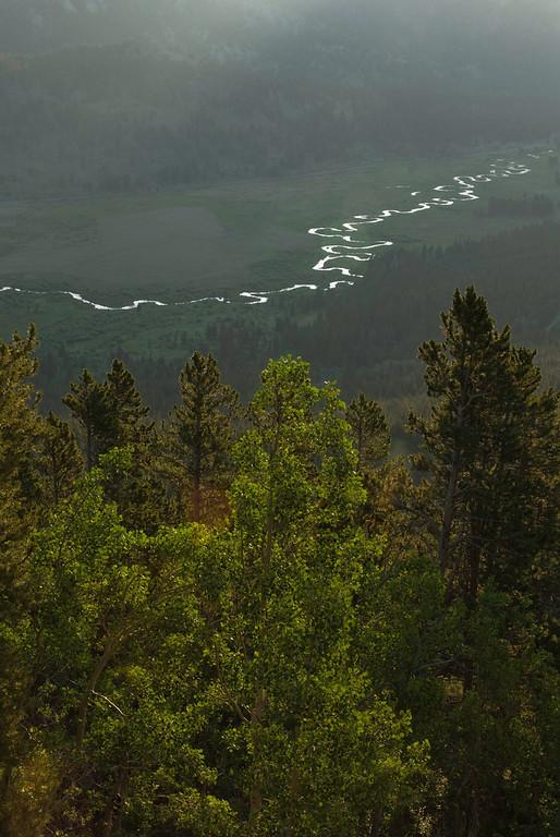 The Big Thompson meanders through Beaver Meadows.