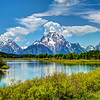 Mount Moran and Snake River