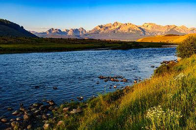 Salmon River and Sawtooth Mountains, Stanley, Idaho