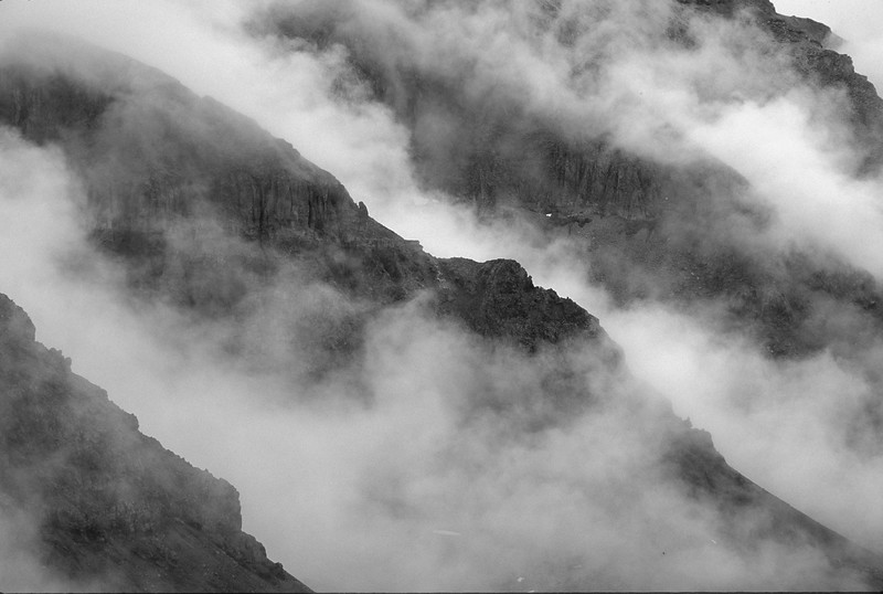 Ridges and Fog, Yankee Boy Basin, Colorado