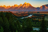 The Snake River and Teton Mountains, Grand Teton National Park, Wyoming