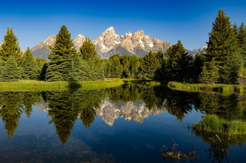 The Teton Mountains from Schwabacher Landing, Grand Teton National Park, Wyoming