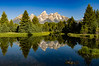 The Teton Mountains from Schwabacher Landing, Grand Teton National Park, Wyoming