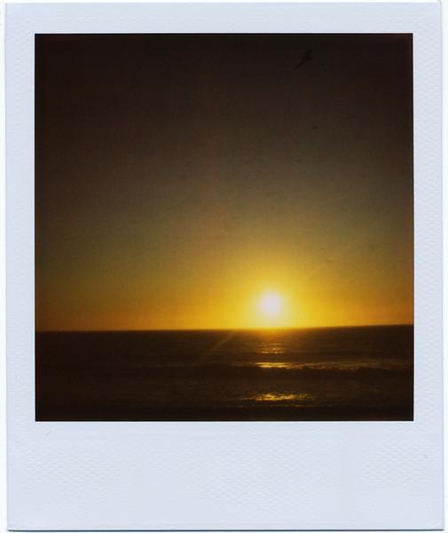 Sunset at Half Moon Bay State Beach, 9/30/09<br /> <br /> SLR 680 SE<br /> 779 film