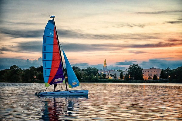 "WPP1431  ""Sailboat at Sunset"""