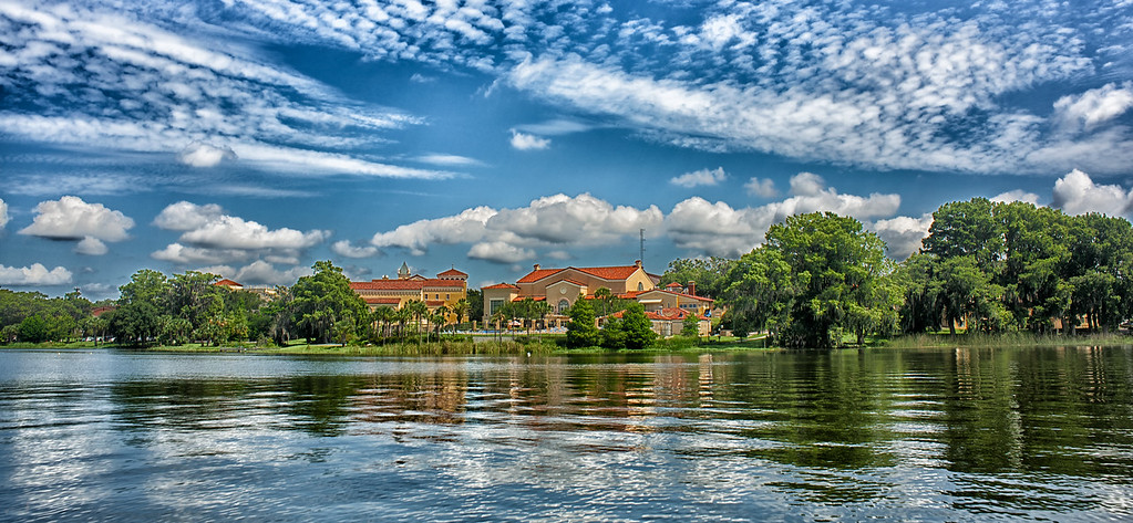 """WPP1465  """"Rollins College from Lake Virginia"""""""