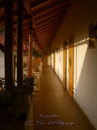 Terrace, Arnota Monastery, Romania.