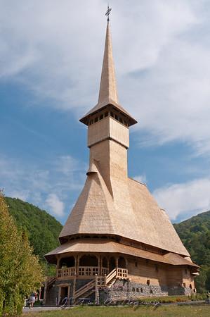 Barsana monastery, one of the main tourist attractions in Maramures, Romania.