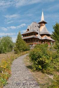 Barsana monastery, one of the main tourist attractions in Maramures, Romania.