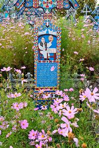 Merry cemetery grave in Sapanta, Romania.