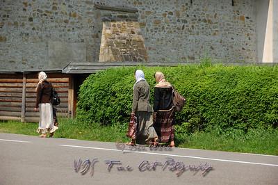 Pilgrims, Putna Monastery.