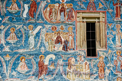 Fresco painting detail, Voronet Monastery Church.