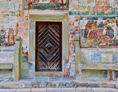 Door of Voronet Monastery Church.