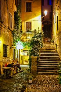 Rome. Gelateria behind Piazza Navona.