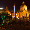 Columns and Churches next to the Vittoriano Monument in Rome, Italy