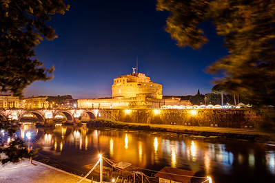 Rome. Castel Sant Angelo and Tevere.