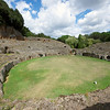 Sutri Amphitheater about 50 km north of Rome on the way to Viterbo, Italy