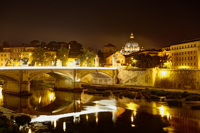 Rome. Vatican and Tevere.