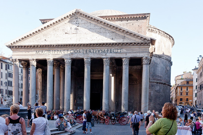 Pantheon (portico constructed by Marcus Agrippa, 27 BC - reconstructed in 127 AD by Hadrian)