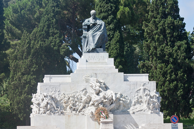 Monument to Mazzini (helped bring about the unification of Italy with Garibaldi)
