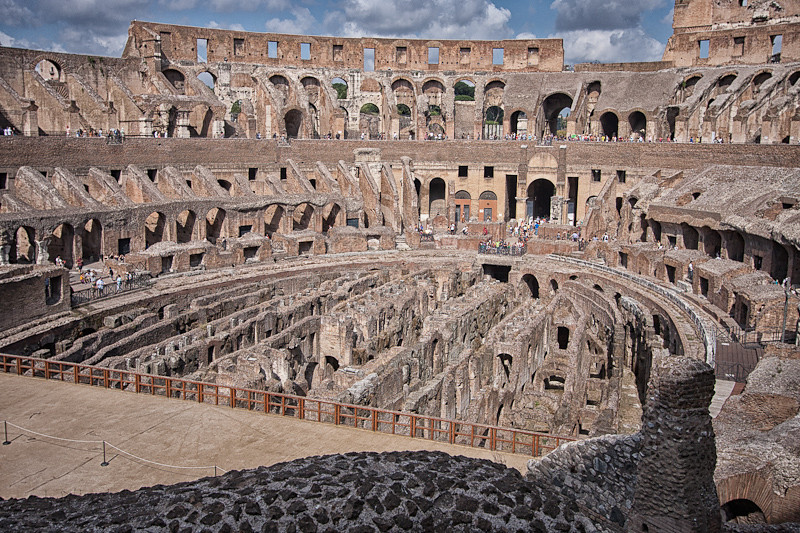 The Flavian Amphitheater (otherwise known as the Colosseum)