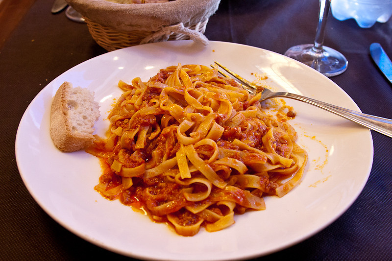 Pasta al Ragu (my lunch)