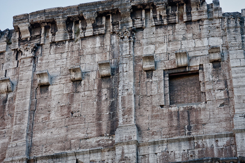 Detail of the wall of the Colosseum