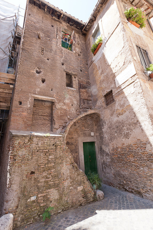 Houses within the Rome Jewish Ghetto