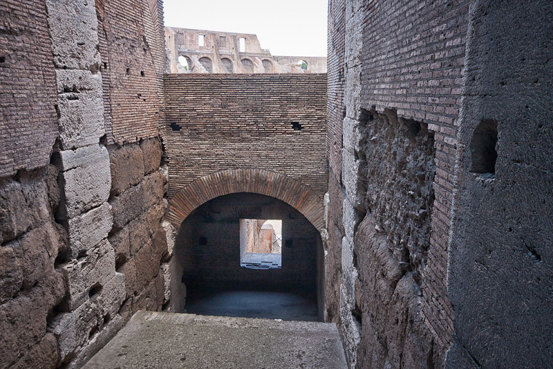 From the interior of the Colosseum