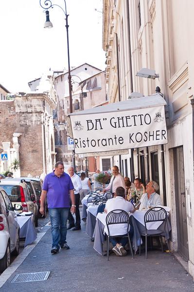 BA Ghetto Kosher (meat) restaurant (we ate here)