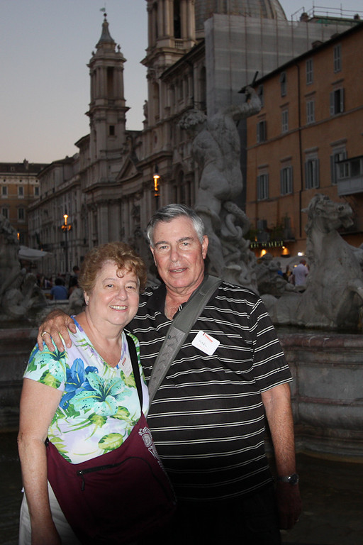 Us in the evening on Piazza Navona