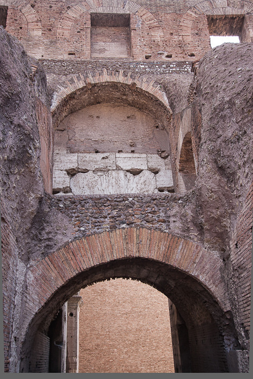 Detail of the Colosseum architecture