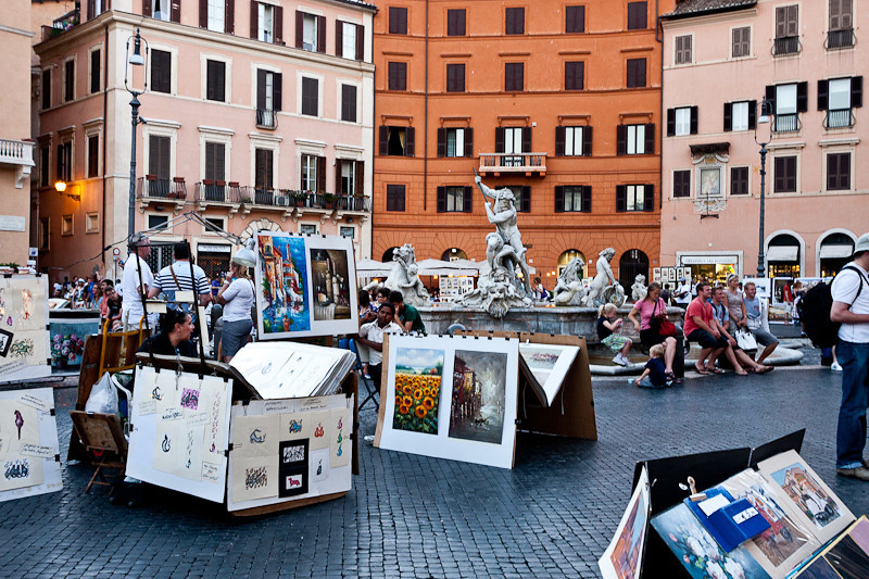 Piazza Navona with the Neptune Fountain in the background