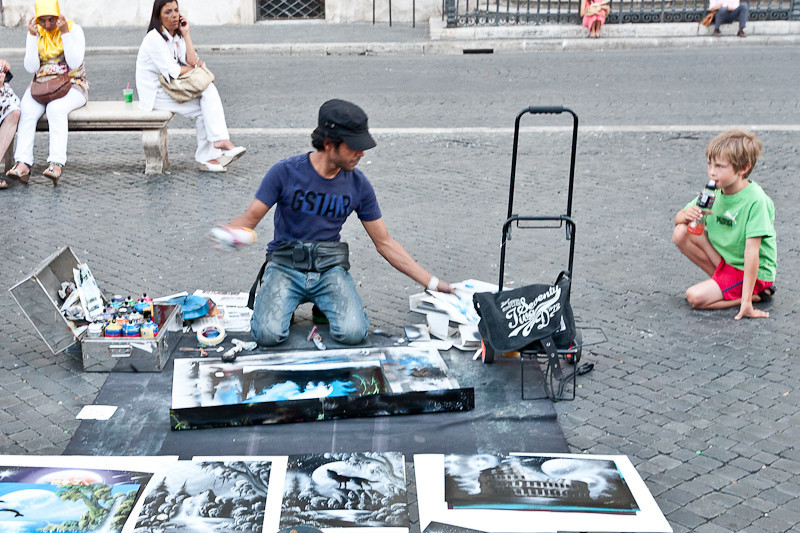 Street painter in Piazza Navona
