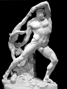 Borghese Museum statue, Rome, Italy
